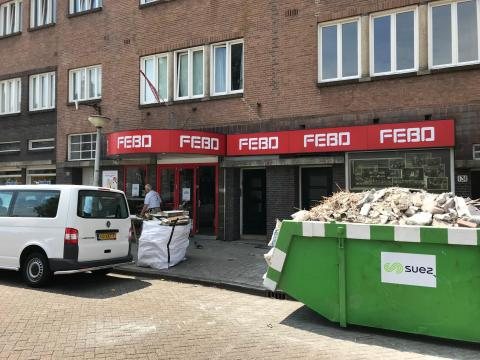 Verbouwing FEBO Amsterdam